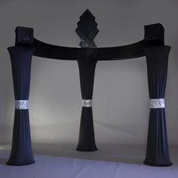 Elegant Ebony Three-column Arch Kit