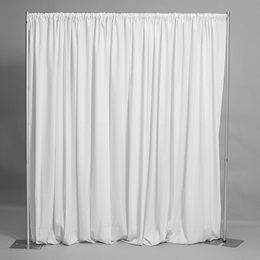 Easy-up Fabric Backdrop - White