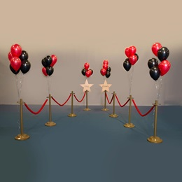 Royal Treatment Signs, Stands, Ropes, and Balloons Kit