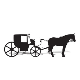 Horse and Carriage Cut Out Silhouette
