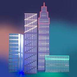 Uptown Funk Buildings Kit (set of 4)