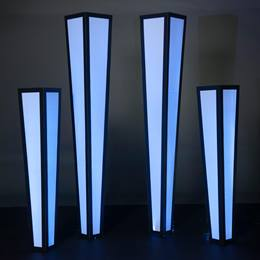 Lighted Black and White Columns Kit (set of 4)