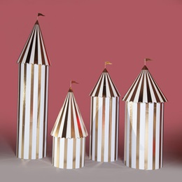 Gold and White Carnival Columns Kit (set of 4)