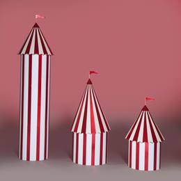 Red and White Carnival Columns Kit (set of 3)