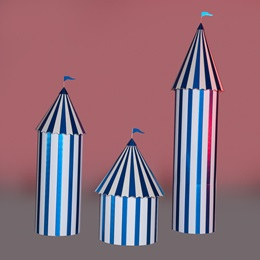 Blue and White Carnival Columns Kit (set of 3)