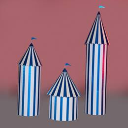 Blue and White Carnival Columns Kit (set of 3)