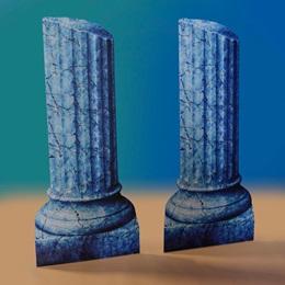 Ancient Undersea Ruins Medium Columns Kit (set of 2)