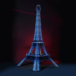 Ice Blue Lighted Eiffel Tower Kit