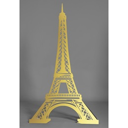 Gold Eiffel Tower Silhouette Kit