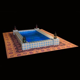 Oasis in the Desert Pool and Printed Rug Kit