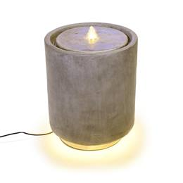 Round Light-up Faux Stone Fountain