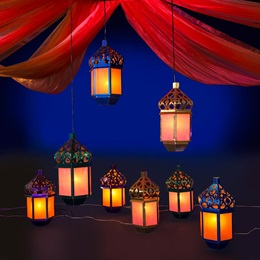Moroccan Lights Lamps Kit (set of 8)