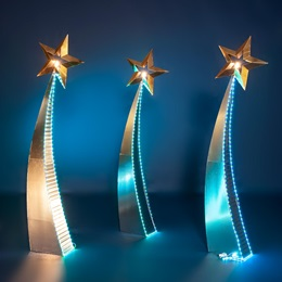 Lighted Luminaries Shooting Stars Kit (set of 3)