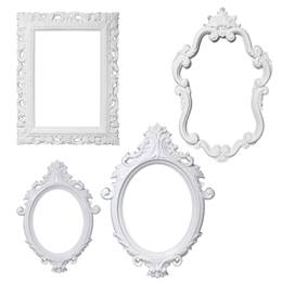 Plastic Frame Photo Prop Set - White