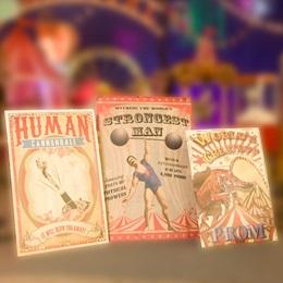 World's Greatest Vintage Carnival Posters Kit (set of 3)
