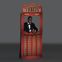 Carnival Ticket Booth Kit