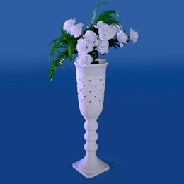 Frosted Roses Short Vase Kit