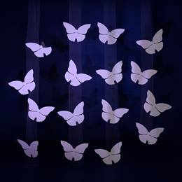 Perfectly Pearl-colored Butterfly Panels Kit (set of 4)