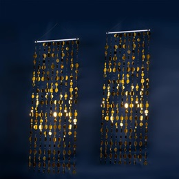 Gold Disco Discs Curtains Kit (set of 2)