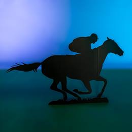 Single Jockey and Horse Silhouette Kit