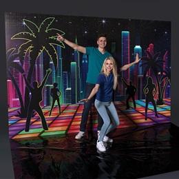 Neon City Photo Op Backdrop Kit