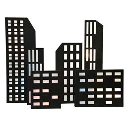 Nighttime in New York Buildings Kit (set of 6)