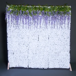 White Flower Wall Backdrop With WIsteria