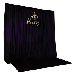 King Sign With Backdrop Kit