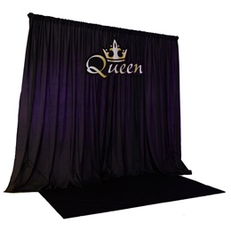Queen Sign With Backdrop Kit