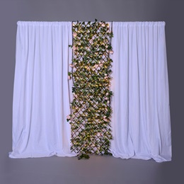 Blooming Blossoms Fabric Wall With Trellis Kit