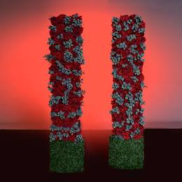 Bed of Roses Tall Floral Wall Panel Kit (set of 2)