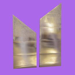 Silver Sparkle Spiked Walls Kit (set of 2)