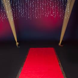 Pathway to Fame Red Carpet and Hanging Lights Kit