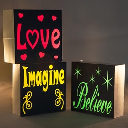 Believe/Imagine/Love Blocks Kit (set of 3)