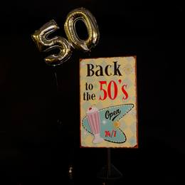 Back to the '50s Poster and Balloons Kit