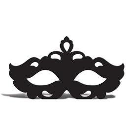 Black Venetian Mask Silhouette