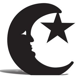Moon and Star Silhouette