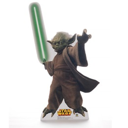 Yoda With Light Saber Life Size Stand Up