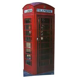British Phone Booth Life-size Stand Up