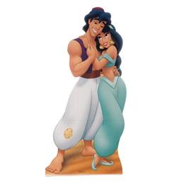 Aladdin and Jasmine Life Size Stand Up