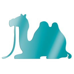 Teal Sitting Camel Silhouette Kit