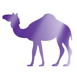Purple Standing Camel Silhouette Kit