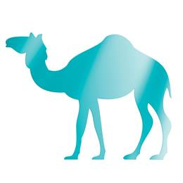 Teal Standing Camel Silhouette Kit