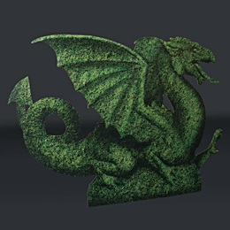 Dragon Topiary Full-color Life Size Cut Out