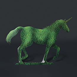 Unicorn Topiary Full-color Life Size Cut Out