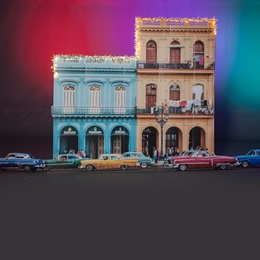 Barrio Building With Seven Cars Kit