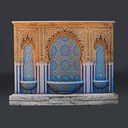 Moroccan Fountain Full-color Life Size Cut Out