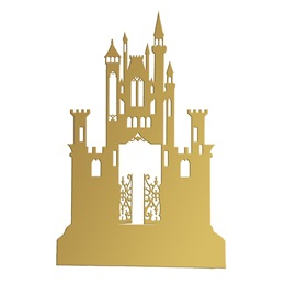Gold Gothic Mystery Castle Silhouette Kit