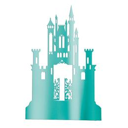 Teal Gothic Mystery Castle Silhouette