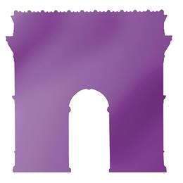 Purple Arc De Triomphe Silhouette